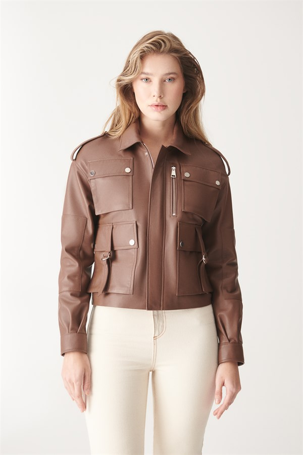 KATE Tan Sport Leather Jacket