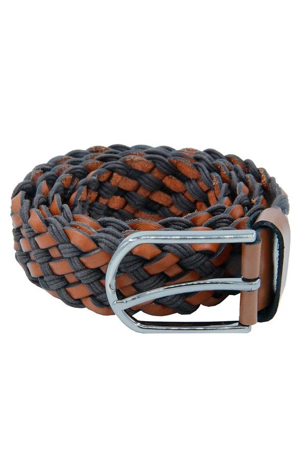 Knitted Belt Tan Brown
