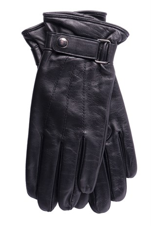 Buckle Mens Leather Gloves