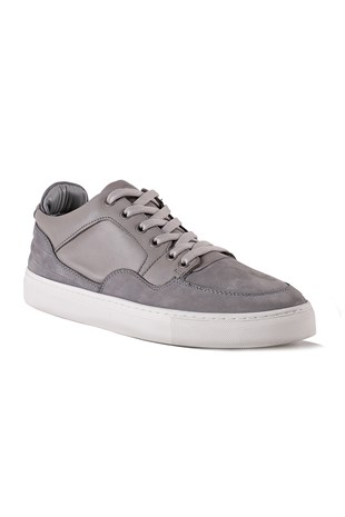 Madison Grey Leather Sneaker