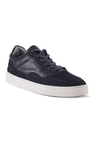 Madison Navy Leather Sneaker