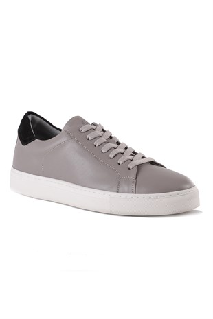 Verona Grey Leather Sneaker