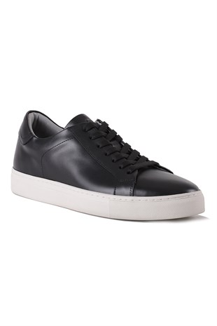 Verona Black Leather Sneaker