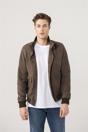 Baron Men Sports Brown Suede Jacket