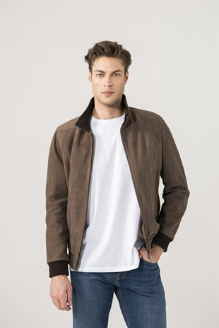 Cedric Men Sports Brown Suede Jacket