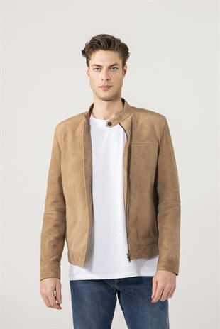 Christian Men Sports Mink Suede Jacket