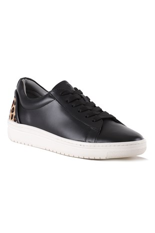 Jasmine Black Leopard Leather Women Sneaker