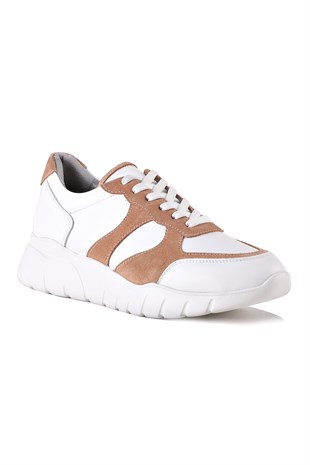 Mina White Salmon Women Leather Shoes