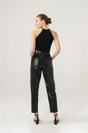 KADIN PANTOLONGracie Women Black Pleated Pants