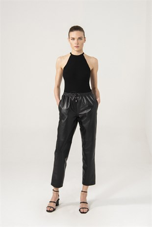 Sienna Women Black Waist Elastic Pants