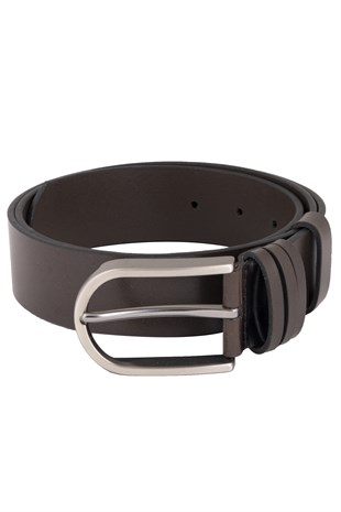 Brown Casual Belt with 3 Loops