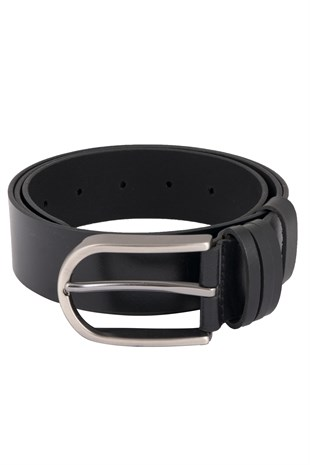 Black Casual Belt with 3 Loops