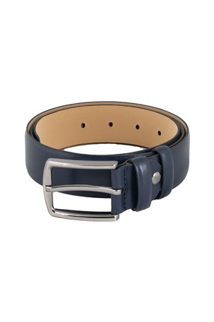 Classic Belt in Navy Blue