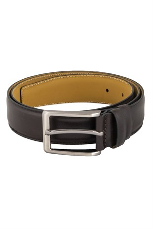 Single Stitched Classic Belt in Brown