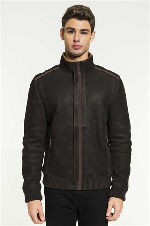 CAMERON Men Casual Toffee Shearling Jacket